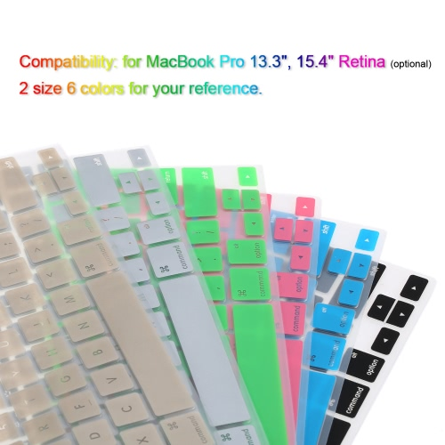 Silicone Anti-dust Ultra-thin Laptop Keyboard Protective Film Cover Sticker Skin US Layout for MacBook Pro 13.3 RetinaComputer &amp; Stationery<br>Silicone Anti-dust Ultra-thin Laptop Keyboard Protective Film Cover Sticker Skin US Layout for MacBook Pro 13.3 Retina<br>