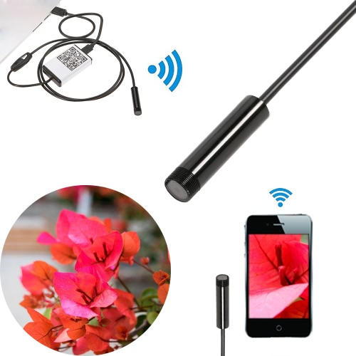 9mm 1m Wifi Endoscope Borescope Camera Inspection Camera Water Resistant 6 LEDs for iOS Android Phone TabletComputer &amp; Stationery<br>9mm 1m Wifi Endoscope Borescope Camera Inspection Camera Water Resistant 6 LEDs for iOS Android Phone Tablet<br>