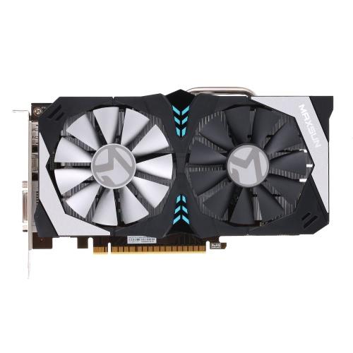 MAXSUN GeForce GTX 1050 Терминатор 2G M.3 Видеокарта 1354-1455 МГц / 7000 МГц 2G / 128bit GDDR5 PCI-E 3.0 X16 HDMI + DP + DVI порт 2 Вентиляторы охлаждения со светодиодной задней панелью