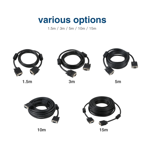 1080P Male to Male VGA 15 Pin Cable 3FT Connectors for Video Computer TV ProjectorComputer &amp; Stationery<br>1080P Male to Male VGA 15 Pin Cable 3FT Connectors for Video Computer TV Projector<br>