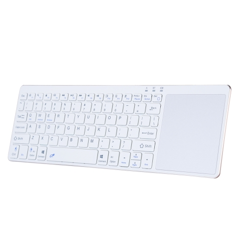 Portable Wireless Bluetooth Keyboard Ultra Slim Keyboard with Touch Pad for IOS Android Windows Tablet Smart Phone WhiteComputer &amp; Stationery<br>Portable Wireless Bluetooth Keyboard Ultra Slim Keyboard with Touch Pad for IOS Android Windows Tablet Smart Phone White<br>