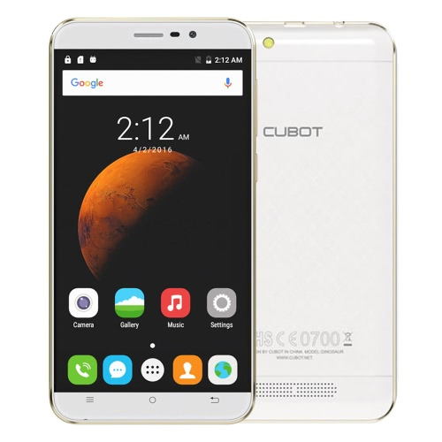 CUBOT Dinosaur 4G FDD-LTE 2.5D 5.5 HD 64bit MTK6735 3GB + 16GB 5 + 13MP Android 6.0 4150 mAh + CUBOT Dinosaur + 32GTF card + Earphone + bobina Winder + Wipe coth + Ring contenitore regalo