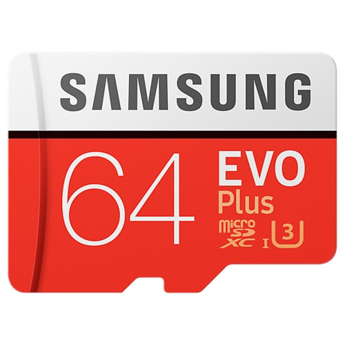 Samsung Memory 64GB EVO Plus MicroSDXC 100MB/s UHS-I (U3) Class 10 TF Flash Memory Card High Speed for Phone Tablet CemaraComputer &amp; Stationery<br>Samsung Memory 64GB EVO Plus MicroSDXC 100MB/s UHS-I (U3) Class 10 TF Flash Memory Card High Speed for Phone Tablet Cemara<br>