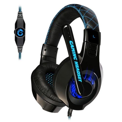 Somic G95 Esport Gaming jeu casque stéréo casque écouteurs sur oreille USB & 3,5 mm câble lumière LED avec Microphone