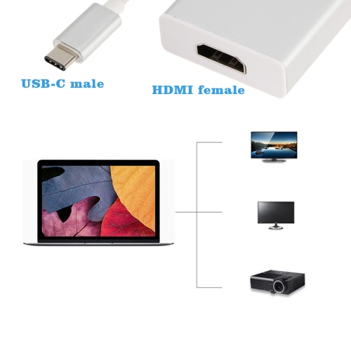 USB 3.1 Type-C to HD 4K*2K HDTV Hub Adapter Cable(DP Alt mode) for New MacBook 12 Google Chromebook Pixel Nokia N1Computer &amp; Stationery<br>USB 3.1 Type-C to HD 4K*2K HDTV Hub Adapter Cable(DP Alt mode) for New MacBook 12 Google Chromebook Pixel Nokia N1<br>