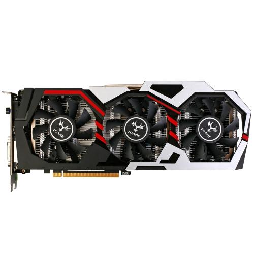 Bunte NVIDIA GeForce GTX iGame 1080 GPU 8GB 256bit Gaming GDDR5X PCI-E X16 3.0 VR Ready Video Grafikkarte