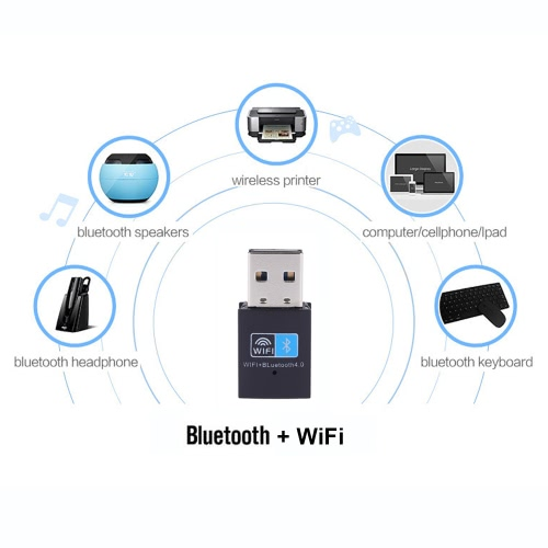 150Mbps Mini USB Wireless N WiFi Bluetooth 4.0 WLAN Network Adapter IEEE 802.11n/g/b for Windows 7/8/8.1/10/Linux/MacComputer &amp; Stationery<br>150Mbps Mini USB Wireless N WiFi Bluetooth 4.0 WLAN Network Adapter IEEE 802.11n/g/b for Windows 7/8/8.1/10/Linux/Mac<br>