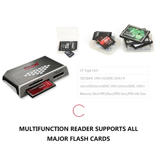 Kingston FCR-HS4 USB 3.0 High-Speed All-in-one TF SD Card Reader AdapterComputer &amp; Stationery<br>Kingston FCR-HS4 USB 3.0 High-Speed All-in-one TF SD Card Reader Adapter<br>