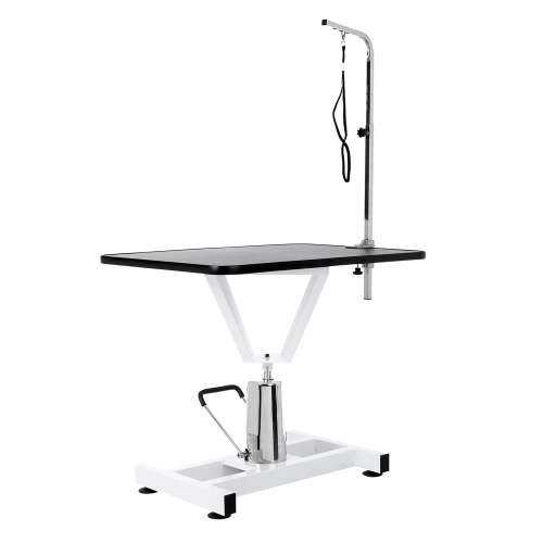 iKayaa 36 Metal Adjustable Hydraulic Pet Dog Grooming Table W/ Arm &amp; Noose 360°Swivel Tabletop 100KG Capacity Dog SuppliesHome &amp; Garden<br>iKayaa 36 Metal Adjustable Hydraulic Pet Dog Grooming Table W/ Arm &amp; Noose 360°Swivel Tabletop 100KG Capacity Dog Supplies<br>