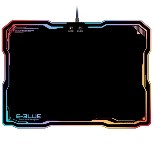 E-3LUE EMP013 LED Lighting USB Wired Hard Gaming Mouse Pad Dazzle RGB Colorful Backlight Game Mice Mat with Intelligent SwitchComputer &amp; Stationery<br>E-3LUE EMP013 LED Lighting USB Wired Hard Gaming Mouse Pad Dazzle RGB Colorful Backlight Game Mice Mat with Intelligent Switch<br>