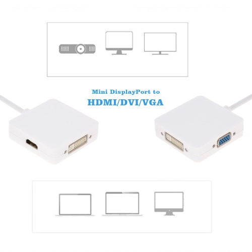 Mini DisplayPort MDP Thunderbolt to HD/DVI/VGA Adapter Cable for MacBook Air Pro iMac Mac Mini Laptop PC HDTV Projector MonitorComputer &amp; Stationery<br>Mini DisplayPort MDP Thunderbolt to HD/DVI/VGA Adapter Cable for MacBook Air Pro iMac Mac Mini Laptop PC HDTV Projector Monitor<br>