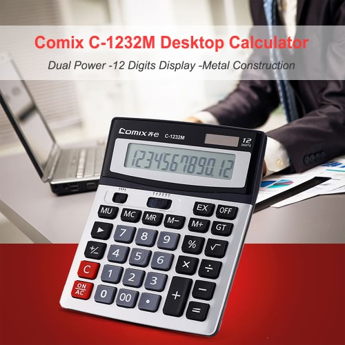 Comix C-1232M Standard Function Desktop Calculator 12 Digits Solor and Battery Dual Power for School Office HomeComputer &amp; Stationery<br>Comix C-1232M Standard Function Desktop Calculator 12 Digits Solor and Battery Dual Power for School Office Home<br>