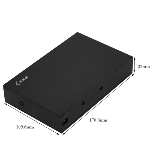 SSK 3.5 High Speed USB 3.0 SATA External Hard Drive Enclosure HDD Case 9.5mm 7mm for PC LaptopComputer &amp; Stationery<br>SSK 3.5 High Speed USB 3.0 SATA External Hard Drive Enclosure HDD Case 9.5mm 7mm for PC Laptop<br>