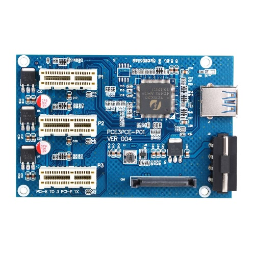 USB 3.0 PCI-E PCI Express 1X 3-Port Expander PCI-E 1X 1 to 3 Ports Riser Card Express Card Adapter Multiplier for MiningComputer &amp; Stationery<br>USB 3.0 PCI-E PCI Express 1X 3-Port Expander PCI-E 1X 1 to 3 Ports Riser Card Express Card Adapter Multiplier for Mining<br>