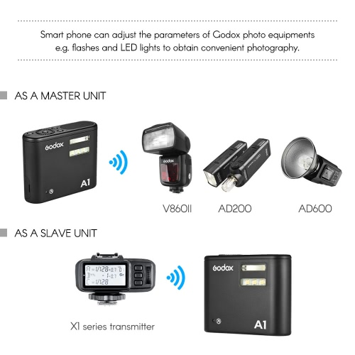 Godox A1 Phone Flash OLED Display Built-in 2.4G Wireless X System Support Phone APP Remote Control Master Slave Functions with MT0Cameras &amp; Photo Accessories<br>Godox A1 Phone Flash OLED Display Built-in 2.4G Wireless X System Support Phone APP Remote Control Master Slave Functions with MT0<br>