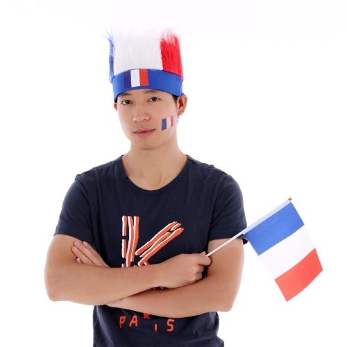 Anself France Flag Football Soccer Fans Wig Head Cap European Cup FIFA World Cup Sports Carnival Festival Cosplay Costume + AnselfHome &amp; Garden<br>Anself France Flag Football Soccer Fans Wig Head Cap European Cup FIFA World Cup Sports Carnival Festival Cosplay Costume + Anself<br>