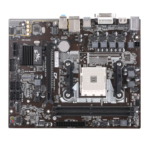 Bataille colorée AX C.AB350M-HD Plus V14 Carte mère pour AMD Systemboard Mainboard B350 / AM4 DDR4 mATX SATA3 USB3.1