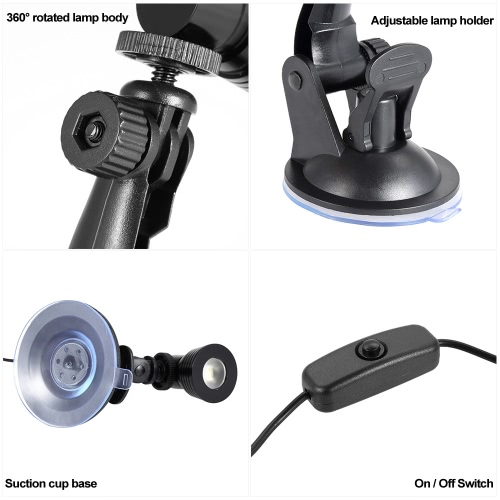 Desk Lamp Eye-caring Table Lamps Small Reading Lamp 360° Rotation Foldable w/ Suction Cup Base BlackComputer &amp; Stationery<br>Desk Lamp Eye-caring Table Lamps Small Reading Lamp 360° Rotation Foldable w/ Suction Cup Base Black<br>