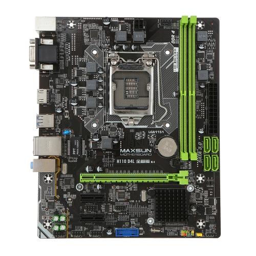MAXSUN MS-H110D4L pour Intel H110 LGA 1151 Socket Ordinateur de bureau Carte mère Carte mère SATA 6Gb / s USB 3.0 Jeux DDR4 M-ATX