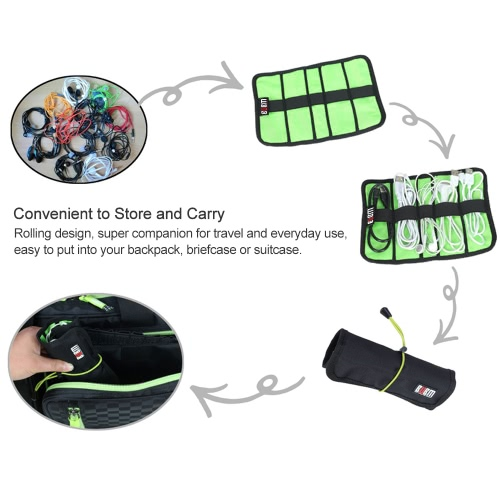 BUBM UDJ Cable Organizer Bag Storage Travel Case Rolling Design Water-resistant for USB Earphone Cable Tool Pen Accessories CamoufComputer &amp; Stationery<br>BUBM UDJ Cable Organizer Bag Storage Travel Case Rolling Design Water-resistant for USB Earphone Cable Tool Pen Accessories Camouf<br>