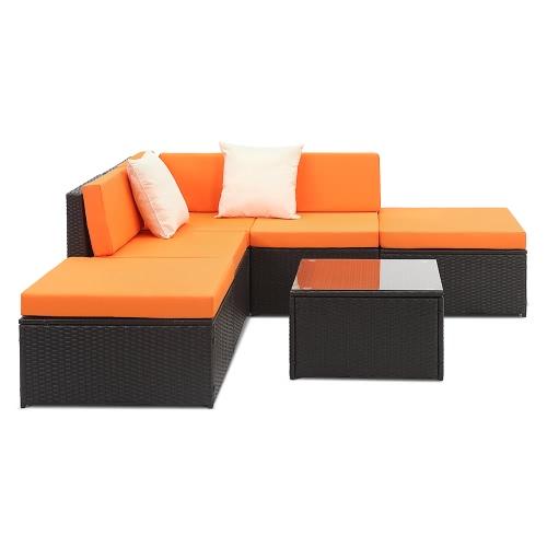 iKayaa 6PCS Cushioned Rattan Outdoor Patio Furniture Set Garden Wicker Sectional Corner Sofa Couch Table SetHome &amp; Garden<br>iKayaa 6PCS Cushioned Rattan Outdoor Patio Furniture Set Garden Wicker Sectional Corner Sofa Couch Table Set<br>