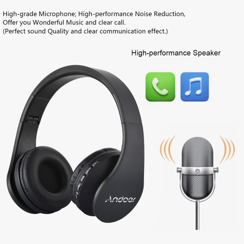 Andoer Bluetooth Headphone Wireless Stereo Bluetooth 4.1 Headset 3.5mm Wired Earphone MP3 Player TF Card FM Radio Hands-free GoldVideo &amp; Audio<br>Andoer Bluetooth Headphone Wireless Stereo Bluetooth 4.1 Headset 3.5mm Wired Earphone MP3 Player TF Card FM Radio Hands-free Gold<br>
