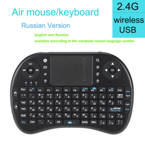 Mini 2.4G Wireless Russian RU Keyboard Handheld Air Mouse Touchpad Remote Control for Xbox360/PS3/Andriod TV Box Smart TV HTPC IPTComputer &amp; Stationery<br>Mini 2.4G Wireless Russian RU Keyboard Handheld Air Mouse Touchpad Remote Control for Xbox360/PS3/Andriod TV Box Smart TV HTPC IPT<br>