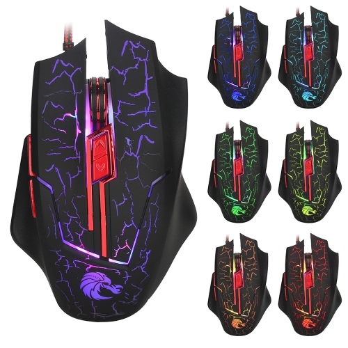 HXSJ Ergonomic Optical Professional Esport Gaming Mouse Mice Adjustable 5500 DPI Breathing LED Light 7 Buttons USB Wired for Mac LComputer &amp; Stationery<br>HXSJ Ergonomic Optical Professional Esport Gaming Mouse Mice Adjustable 5500 DPI Breathing LED Light 7 Buttons USB Wired for Mac L<br>