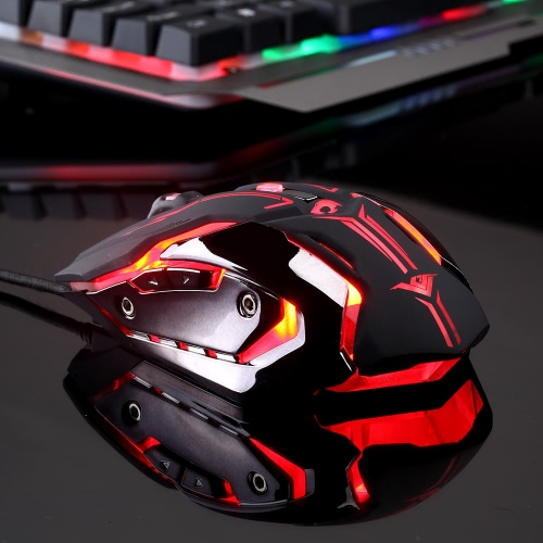 Rajfoo Esport Gaming Mouse Ergonomic Macro Programmable 6D Buttons Mice 4000DPI Breathing LED Light USB Wired for Pro GamersComputer &amp; Stationery<br>Rajfoo Esport Gaming Mouse Ergonomic Macro Programmable 6D Buttons Mice 4000DPI Breathing LED Light USB Wired for Pro Gamers<br>