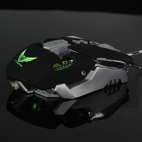 HXSJ USB Wired Competitive Gaming Mouse Mechanical Macro Definition Programming Game Mice Adjustable 3200DPI 7 Programmable ButtonComputer &amp; Stationery<br>HXSJ USB Wired Competitive Gaming Mouse Mechanical Macro Definition Programming Game Mice Adjustable 3200DPI 7 Programmable Button<br>