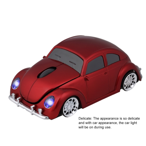2.4G Wireless Car Mouse USB Computer Mice Car Shape 1000 DPI with LED Light Receiver for PC Laptop RedComputer &amp; Stationery<br>2.4G Wireless Car Mouse USB Computer Mice Car Shape 1000 DPI with LED Light Receiver for PC Laptop Red<br>