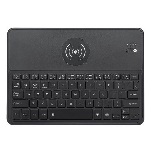 2038 Bluetooth Wireless Keyboard 7 LED Backlights Bluetooth Keyboard with Wireless Charging Function for IOS Android Windows BlackComputer &amp; Stationery<br>2038 Bluetooth Wireless Keyboard 7 LED Backlights Bluetooth Keyboard with Wireless Charging Function for IOS Android Windows Black<br>