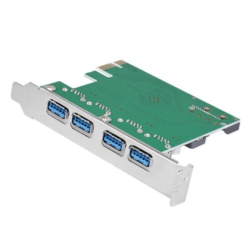 4-порт SuperSpeed USB 3.0 PCI Express карты контроллер адаптер питания 15-контактный разъем SATA разъем низкопрофильный