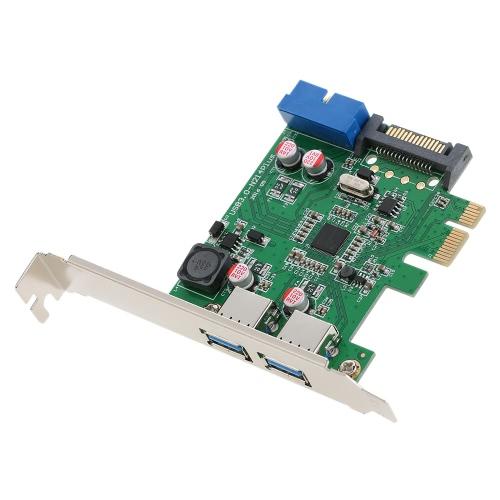 SuperSpeed 2-Port USB 3.0 PCI-E PCI Express 19-pin USB3.0 15-pin SATA Connector Low ProfileComputer &amp; Stationery<br>SuperSpeed 2-Port USB 3.0 PCI-E PCI Express 19-pin USB3.0 15-pin SATA Connector Low Profile<br>
