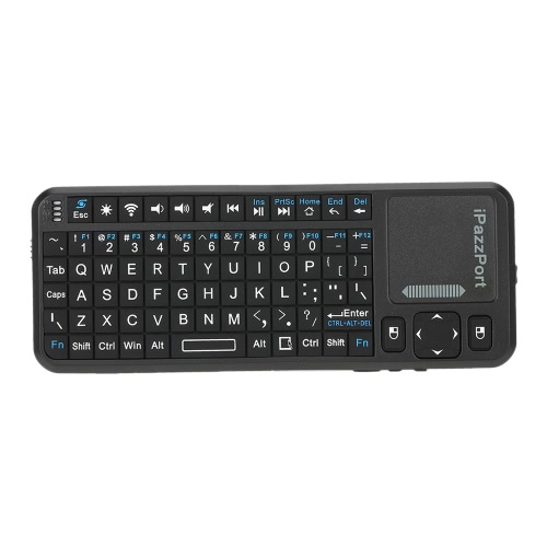 Mini iPazzport KP-810-10A 2.4G RF Wireless Handheld Keyboard Mouse Touchpad LED Pointer BacklightComputer &amp; Stationery<br>Mini iPazzport KP-810-10A 2.4G RF Wireless Handheld Keyboard Mouse Touchpad LED Pointer Backlight<br>