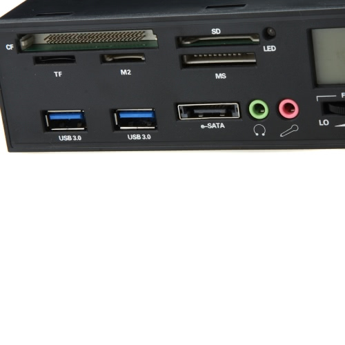 5.25 USB 3.0 e-SATA All-in-1 PC Media Dashboard Multi-function Front Panel Card Reader I/O PortsComputer &amp; Stationery<br>5.25 USB 3.0 e-SATA All-in-1 PC Media Dashboard Multi-function Front Panel Card Reader I/O Ports<br>