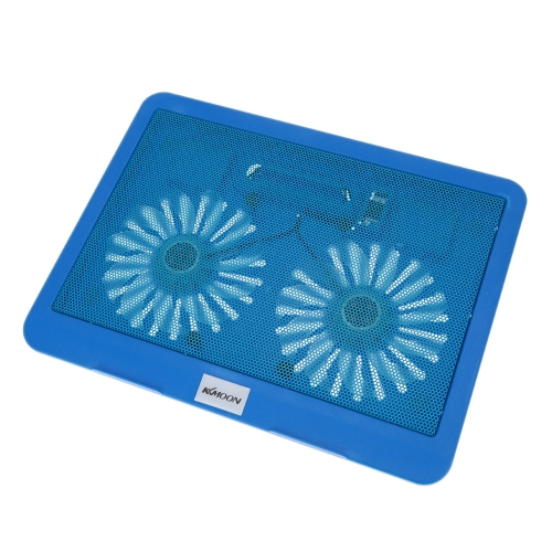 KKmoon 2 Fans Silent Thin Computer Cooling Frame USB Cooler Radiator with Blue LED Light for 12in to 15in Laptop NotebookComputer &amp; Stationery<br>KKmoon 2 Fans Silent Thin Computer Cooling Frame USB Cooler Radiator with Blue LED Light for 12in to 15in Laptop Notebook<br>
