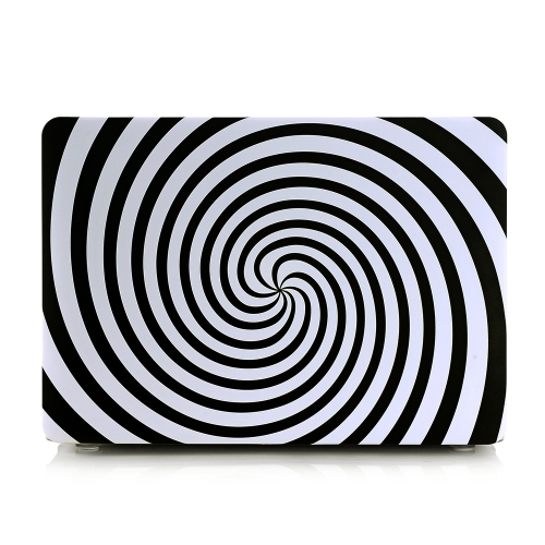 Ultra fino leve branco preto Zebra círculo espiral padrão Laptop Shell caso difícil capa para Apple Macbook Retina 13 13,3 pol