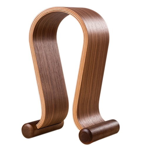 Fone de ouvido de madeira Nogueira madeira Gaming Headset Display Stand suporte gancho