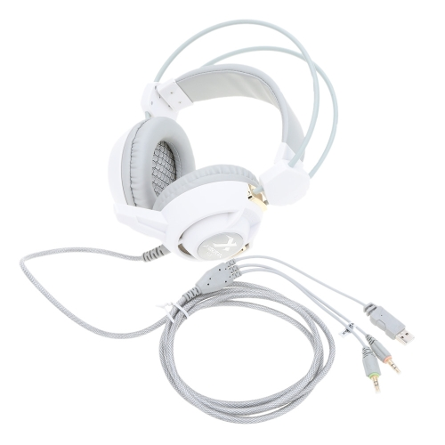 Xiberia Adjustable Over Ear USB &amp; 3.5mm Aux Esport Game Gaming Earphone Headphones Headset Low Bass Stereo with Mic Low Bass ColorComputer &amp; Stationery<br>Xiberia Adjustable Over Ear USB &amp; 3.5mm Aux Esport Game Gaming Earphone Headphones Headset Low Bass Stereo with Mic Low Bass Color<br>