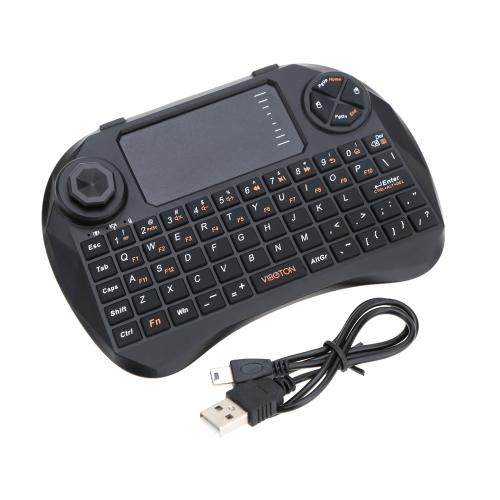 VIBOTON Mini Handheld 2.4G Wireless QWERTY Keyboard Mouse with Touchpad Joystick Remote Control for Android TV Box HTPC Laptop PCComputer &amp; Stationery<br>VIBOTON Mini Handheld 2.4G Wireless QWERTY Keyboard Mouse with Touchpad Joystick Remote Control for Android TV Box HTPC Laptop PC<br>