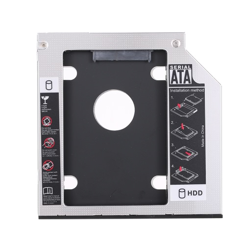 12.7mm Universal 2nd Hard Disk Drive Caddy SATA 2.5 HDD SSD Case Enclosure for Laptop CD/DVD-ROMComputer &amp; Stationery<br>12.7mm Universal 2nd Hard Disk Drive Caddy SATA 2.5 HDD SSD Case Enclosure for Laptop CD/DVD-ROM<br>