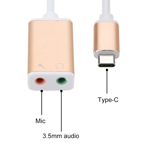 USB 3.1 Type C USB-C to 3.5mm Audio Speaker Microphone Female Earphone Headset Adapter Cable Cord for New Macbook 12/ChromebookComputer &amp; Stationery<br>USB 3.1 Type C USB-C to 3.5mm Audio Speaker Microphone Female Earphone Headset Adapter Cable Cord for New Macbook 12/Chromebook<br>