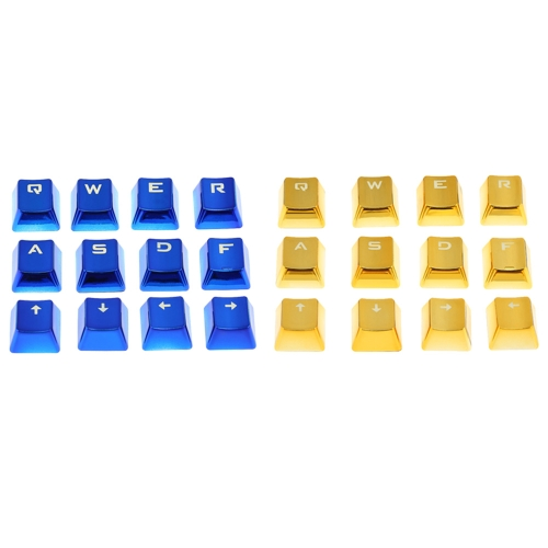 PBT Keycap Double Shot 12 Translucent Backlit Key Cap Metal Color with Key Puller for Mechanical Keyboards BlueComputer &amp; Stationery<br>PBT Keycap Double Shot 12 Translucent Backlit Key Cap Metal Color with Key Puller for Mechanical Keyboards Blue<br>