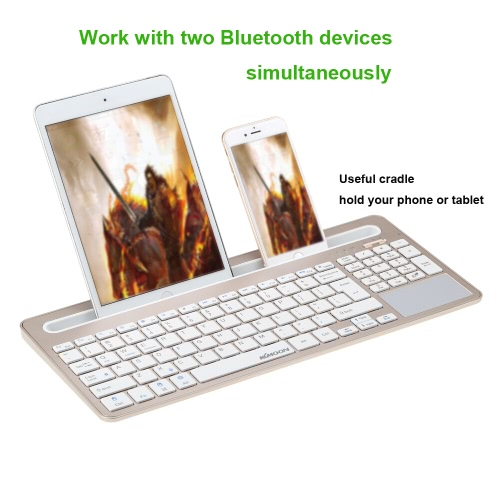 Kkmoon Portable Ultra Slim Thin Bluetooth 3.0 Wireless Keyboard for iPhone 6s/iPad Pro/MacBook Mobile Phone Tablet PCComputer &amp; Stationery<br>Kkmoon Portable Ultra Slim Thin Bluetooth 3.0 Wireless Keyboard for iPhone 6s/iPad Pro/MacBook Mobile Phone Tablet PC<br>