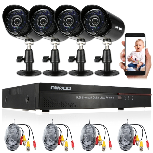 OWSOO 4CH Channel Full 960H/D1 800TVL CCTV Surveillance DVR Security SystemSmart Device &amp; Safety<br>OWSOO 4CH Channel Full 960H/D1 800TVL CCTV Surveillance DVR Security System<br>