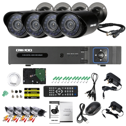 OWSOO 4CH H.264 Full 1080N DVR +4*1500TVL Waterproof CCTV Bullet Camera+ 4*60ft Surveillance Cable + 1TB Seagate Hard DriveSmart Device &amp; Safety<br>OWSOO 4CH H.264 Full 1080N DVR +4*1500TVL Waterproof CCTV Bullet Camera+ 4*60ft Surveillance Cable + 1TB Seagate Hard Drive<br>