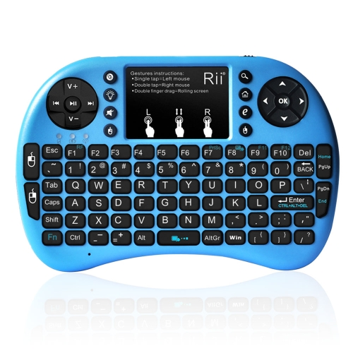 Rii i8+ 2.4G Mini Wireless Keyboard with Backlit Multi-touch US Layout Handheld for Andriod TV Box HTPC PC Pad (RT-MWK08+)Computer &amp; Stationery<br>Rii i8+ 2.4G Mini Wireless Keyboard with Backlit Multi-touch US Layout Handheld for Andriod TV Box HTPC PC Pad (RT-MWK08+)<br>
