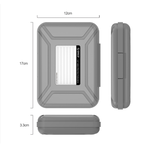 ORICO PHX35-V1 3.5in Hard Drive Protective Box SDD Storage Case HDD Carrying Case Shock Dust Proof GreyComputer &amp; Stationery<br>ORICO PHX35-V1 3.5in Hard Drive Protective Box SDD Storage Case HDD Carrying Case Shock Dust Proof Grey<br>