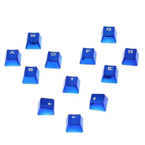 PBT Keycap Double Shot 12 Translucent Backlit Key Cap Metal Color with Key Puller for Mechanical Keyboards BlueComputer &amp; Stationery<br>PBT Keycap Double Shot 12 Translucent Backlit Key Cap Metal Color with Key Puller for Mechanical Keyboards Blue<br>
